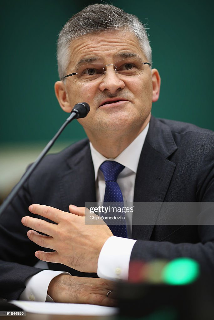Volkswagen Group of America President and CEO Michael Horn testifies before the House Energy and Commerce Committee's Oversight and Investigations...