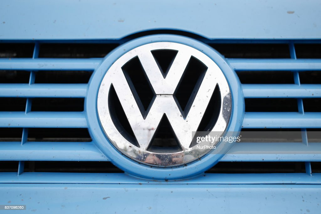 A Volkswagen logo is seen on a van in Bydgoszcz, Poland on 20 August, 2017.