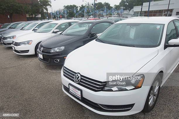Volkswagen Passat is offered for sale at a dealership on September 18 2015 in Chicago Illinois The Environmental Protection Agency has accused...