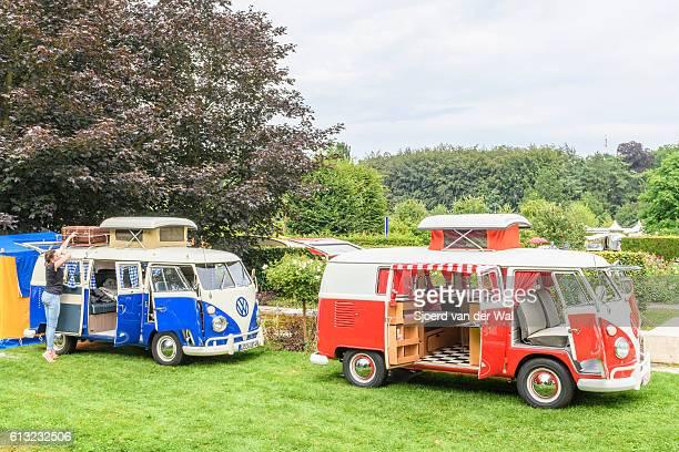 Volkswagen Transporter T1 Camper Vans in a park
