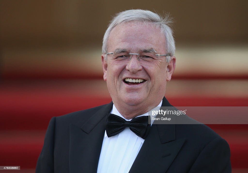 Volkswgaen Group CEO <a gi-track='captionPersonalityLinkClicked' href=/galleries/search?phrase=Martin+Winterkorn&family=editorial&specificpeople=840091 ng-click='$event.stopPropagation()'>Martin Winterkorn</a> arrives for the state banquet in honour of Queen Elizabeth II at Schloss Bellevue palace on the second of the royal couple's four-day visit to Germany on June 24, 2015 in Berlin, Germany. The Queen and Prince Philip are scheduled to visit Berlin, Frankfurt and the concentration camp memorial at Bergen-Belsen during their trip, which is their first to Germany since 2004.