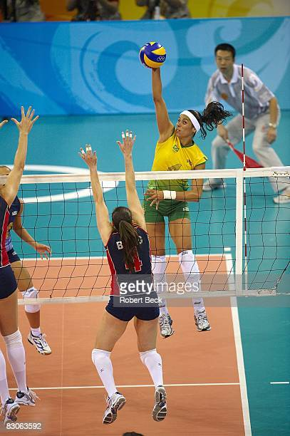 2008 Summer Olympics Brazil Paula Pequeno in action during Women's Gold Medal Game at Capital Indoor Stadium Beijing China 8/23/2008 CREDIT Robert...