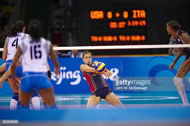2008 Summer Olympics USA Logan Tom in action vs Italy during Women's Quarterfinals at Capital Indoor Stadium Beijing China 8/19/2008 CREDIT John W...