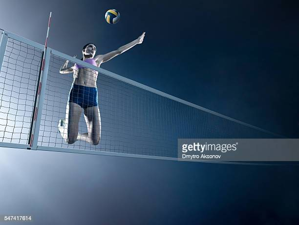 Volleyball: Beautiful female player in action