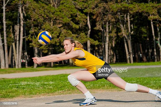Volleyball-defensive Aktion