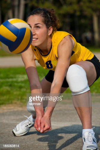 Volleyball defensive action