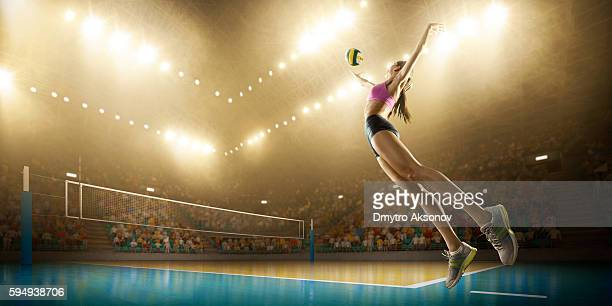 Volleyball: Female player in action