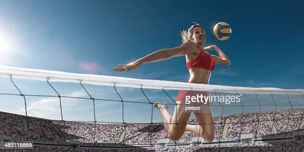 Volley-ball Girl sur le Score