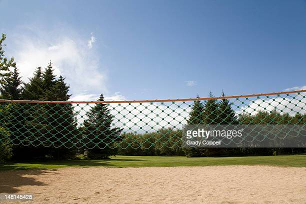 Volleyball net in a park
