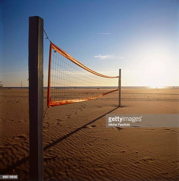 Volleyball net on Venice Beach in California