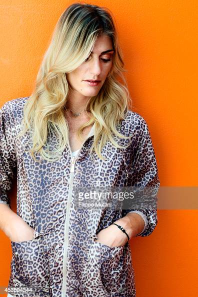 Volleyball player Francesca Piccinini is photographed for Self Assignment on May 20 2014 in Rome Italy