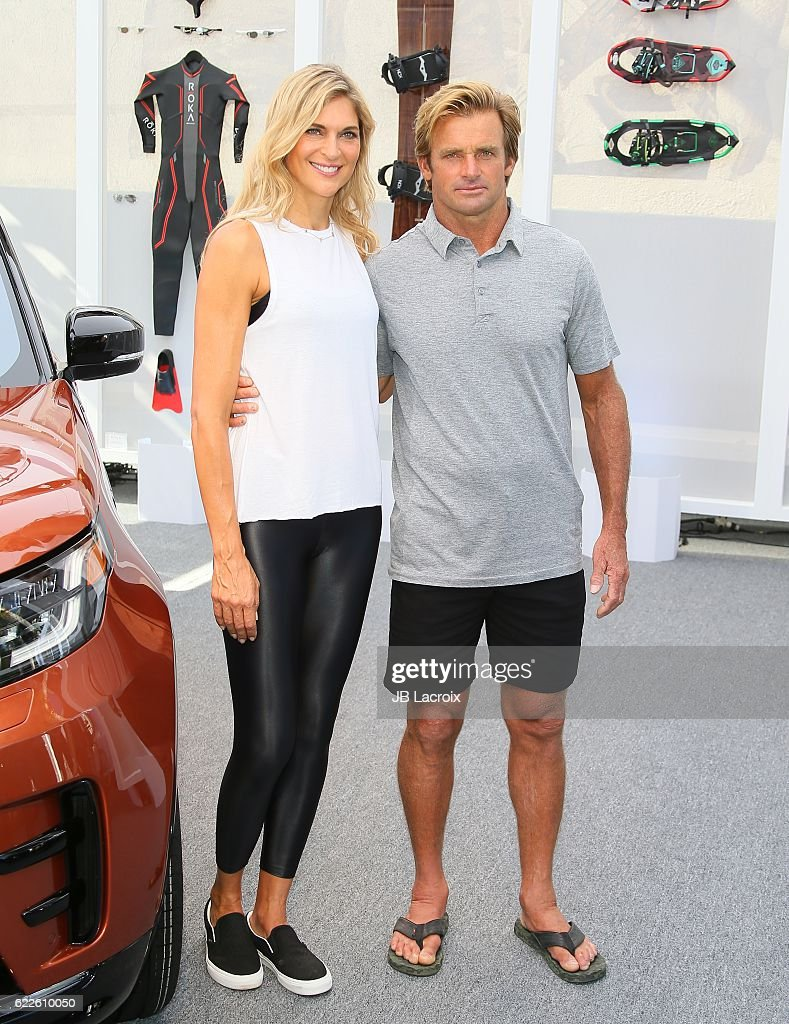 Volleyball player Gabrielle Reece and surfer Laird Hamilton join Land Rover for the North American debut of the all new Discovery SUV on November 11, 2016 in Venice, California.