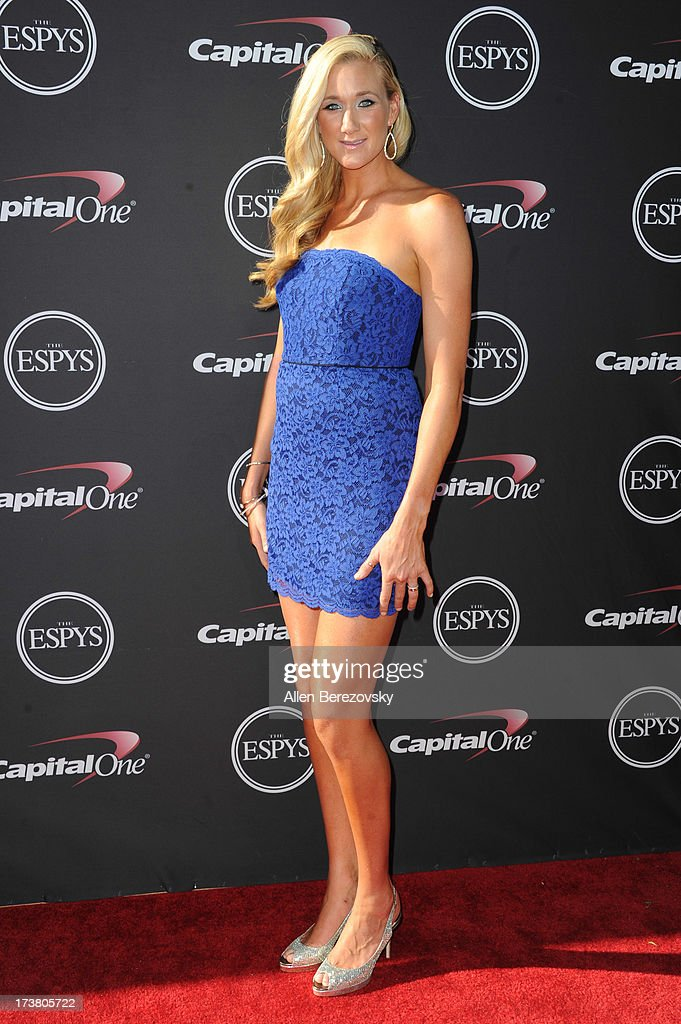 Volleyball player Kerri Walsh Jennings arrives at the 2013 ESPY Awards at Nokia Theatre L.A. Live on July 17, 2013 in Los Angeles, California.