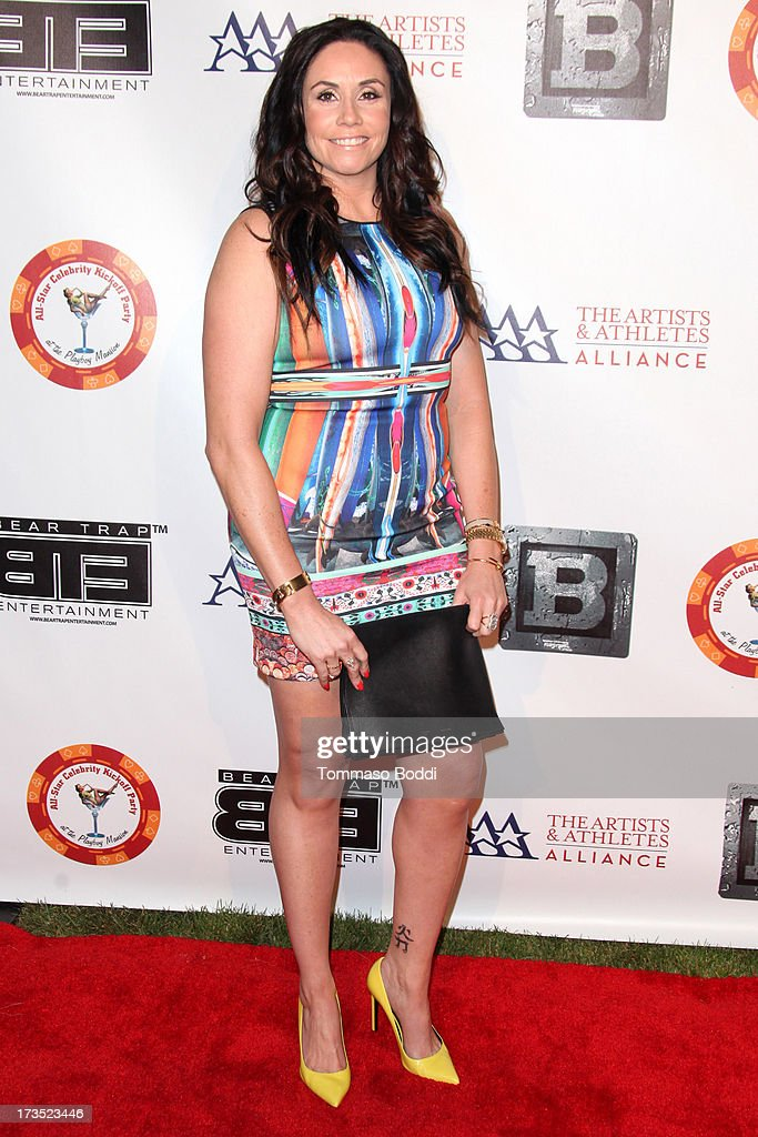Volleyball player Lindsey Berg attends the 8th annual BTE All-Star Celebrity Kickoff Party held at The Playboy Mansion on July 15, 2013 in Beverly Hills, California.