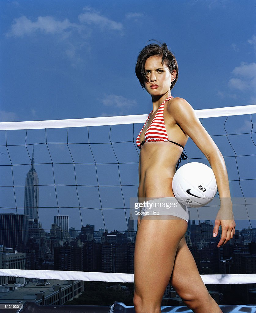 Volleyball player Logan Tom poses at a portrait session in New York City.