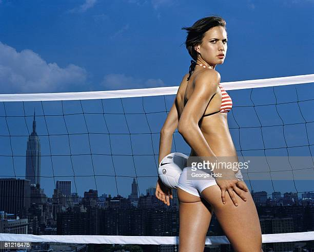 Volleyball player Logan Tom poses at a portrait session in New York City Published image