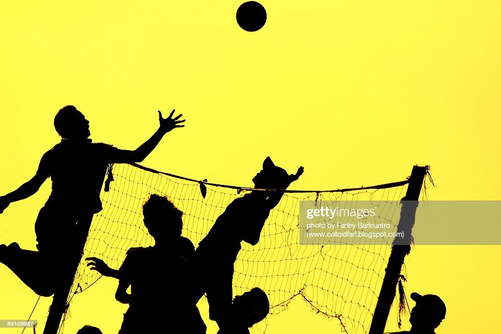 Volleyball Silhouette Stock Photo