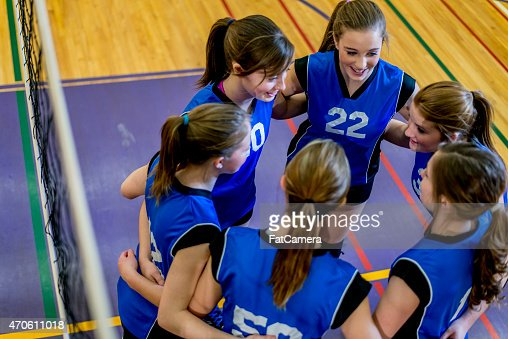 Volleyball Team Huddle