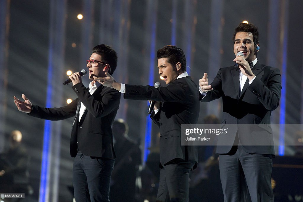IL Volo perform at the Nobel Peace Prize concert at Oslo Spektrum on December 11, 2012 in Oslo, Norway.