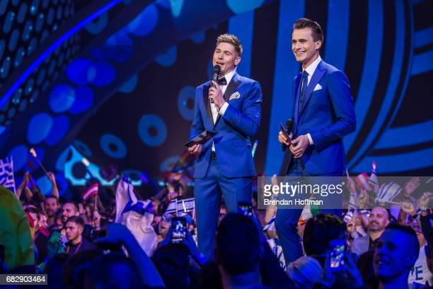 Volodymyr Ostapchuk and Oleksandr Skichko host the second Eurovision semifinal on May 11 2017 in Kiev Ukraine Ukraine is the 62nd host of the annual...