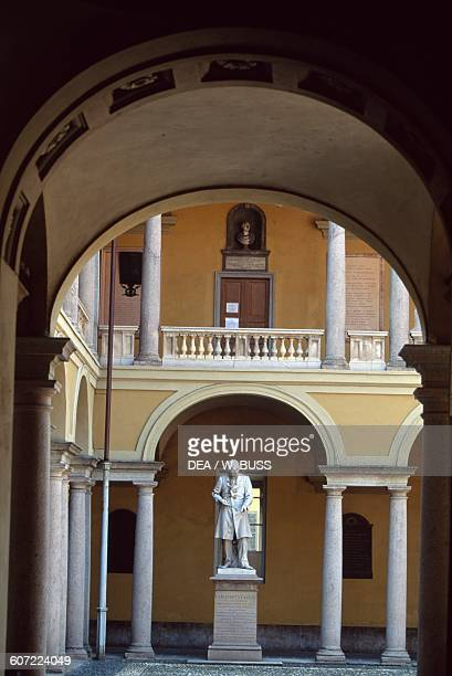 Volta courtyard detail University of Pavia Lombardy Italy