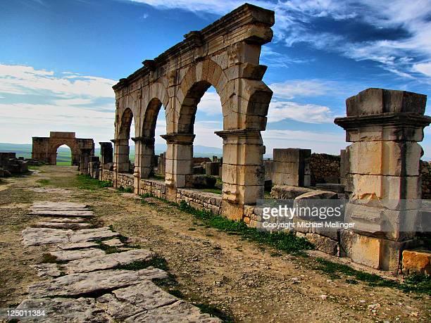 Volubilis roman ruins Morocco