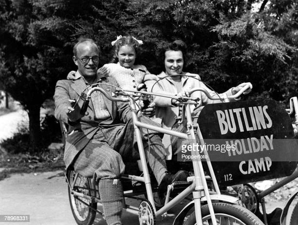 Volume 1 Page 43 Picture 4 Leisure Family riding on a bicycle made for three at Butlins Holiday Camp