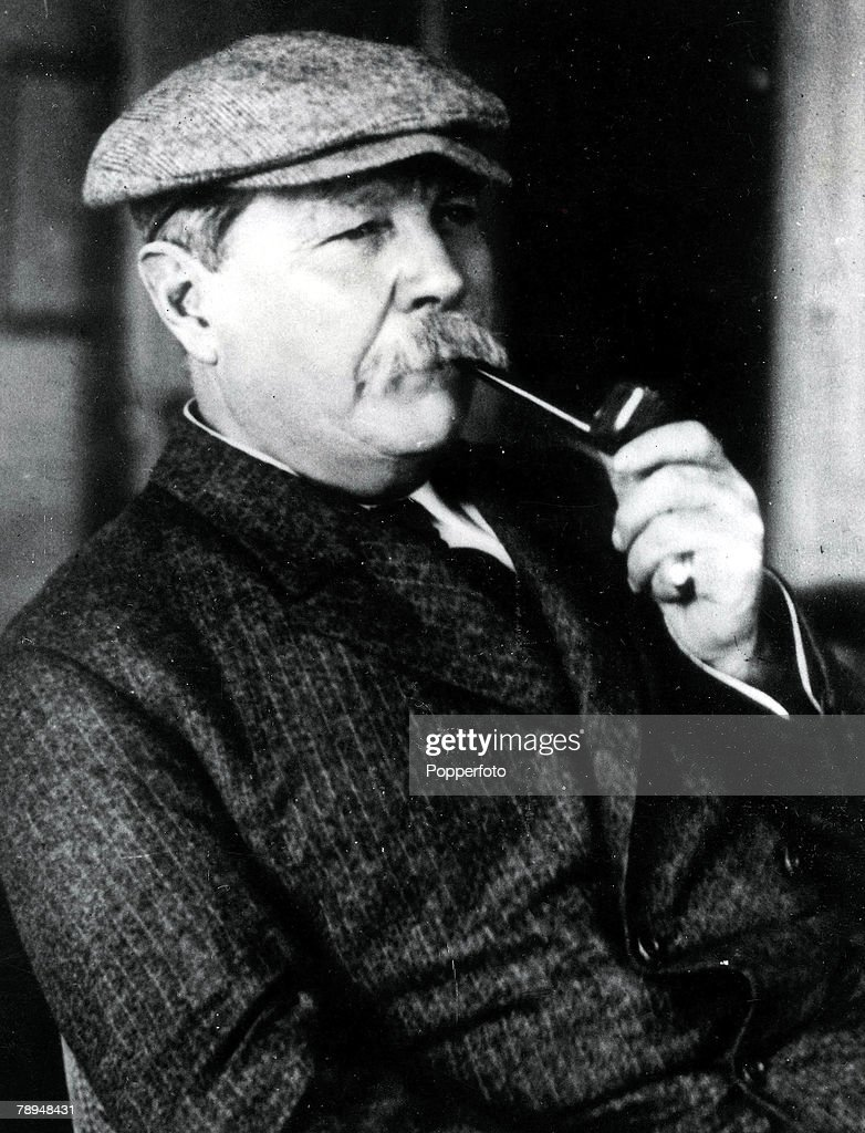 Volume 2, Page 114, Picture, 22, Scottish writer and inventor of Sherlock Holmes, <a gi-track='captionPersonalityLinkClicked' href=/galleries/search?phrase=Arthur+Conan+Doyle&family=editorial&specificpeople=203200 ng-click='$event.stopPropagation()'>Arthur Conan Doyle</a>, (1859-1930) smoking a pipe