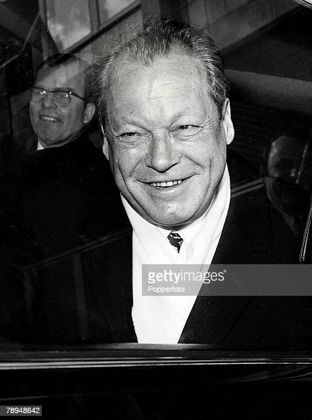 Volume 2 Page 115 Picture West German chancellor Willy Brandt photographed at Heathrow airport