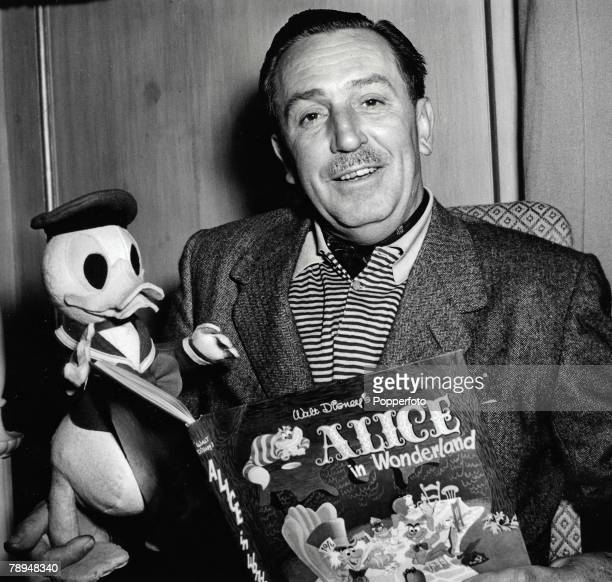 Volume 2 Page 117 Picture 21 Walt Disney famous US artist film producer and animator pictured with one of his creations Donald Duck