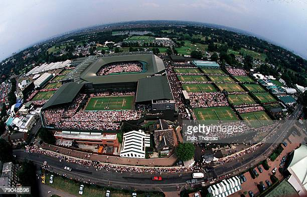Volume 2 Page 15Picture 6 Sport Tennis Wimbledon Lawn Tennis Championships Aerial view of the show and outside courts at Wimbledon