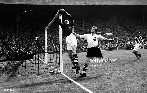 Volume 2 Page 36Pic 7 Football FA Cup Final 1st May 1954 West Bromwich Albion 3 v Preston North End 2 West Bromwich Albion goalkeeper Sanders leaps...