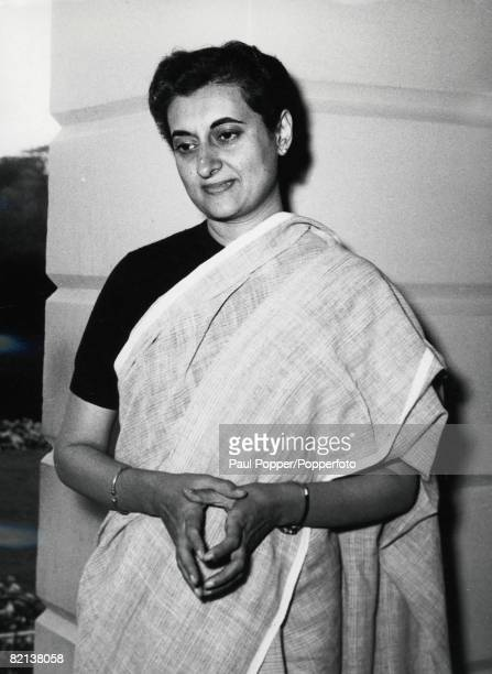 41 Picture 6 India 13th February Mrs Indira Gandhi daughter of Indian premier Jawaharlal Nehru pictured after winning her election to the Preisdency...