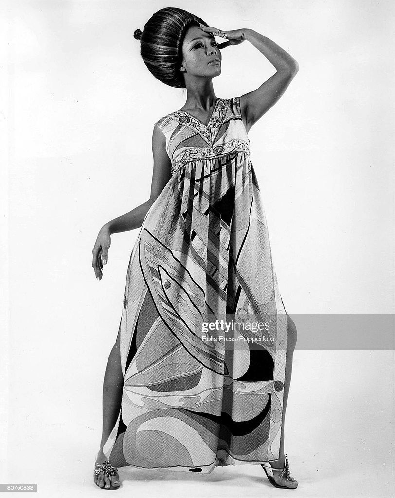 Volume 2 Page 44Pic 9 Florence Italy 18th January 1967 A model wears a Palazzo' pyjama outfit designed by Emilio Pucci