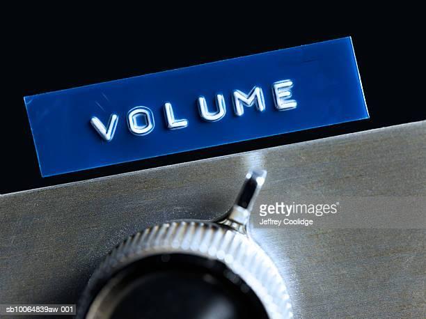 Volume adjustment wheel, close up