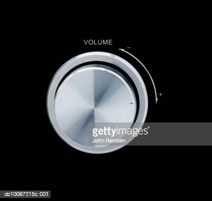 Volume control, close-up : Stock Photo