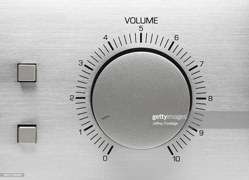 Volume Control Dial : Stock Photo