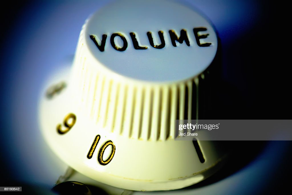 Volume Control for Electric Guitar, Close-up : Stock Photo