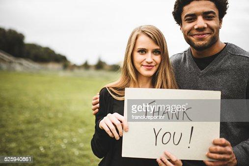 volunteer couple say thank you