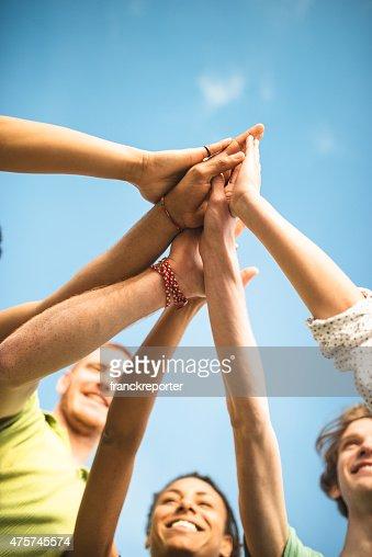 volunteer friends togetherness