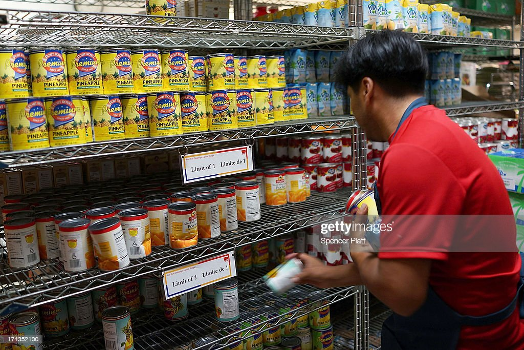 A volunteer stocks shelves at the West Side Campaign Against Hunger food pantry on July 24, 2013 in New York City. The food pantry assists thousands of qualifying New York residents in providing a monthly allotment of food. In an anticipated speech today in Illinois, President Obama tried to re-focus the nations attention back onto the economy and the growing inequality between the rich and the rest of America. As of May 2013 the unemployment rate in America was stuck at 7.6% with many more Americans having given up on looking for work.
