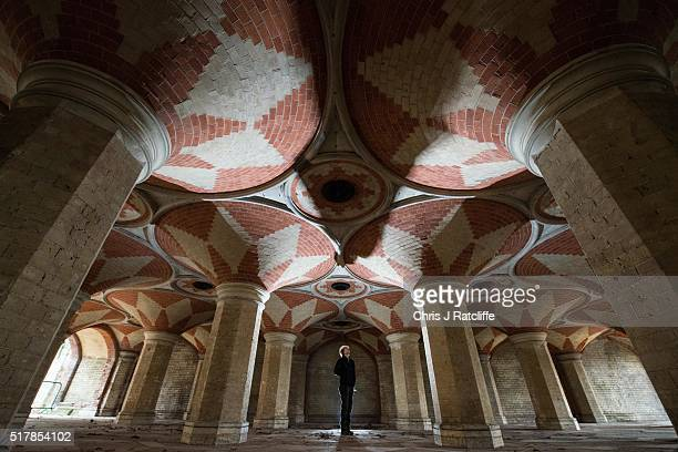 Volunteer Sue Giovanni looks up at the ceiling of the Grade II listed Victorian Crystal Palace Subway that is hidden under the A212 road at Crystal...