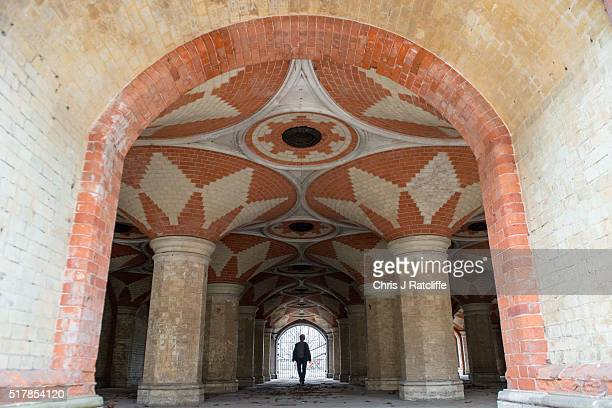 Volunteer Sue Giovanni walks through the Grade II listed Victorian Crystal Palace Subway that is hidden under the A212 road at Crystal Palace on...