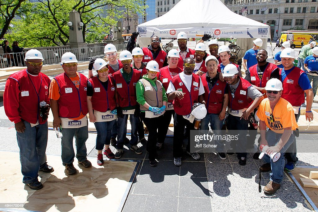 Volunteers help kick off Habitat for Humanity's 'Raise Your Hand Chicagoland,' an unprecedented building blitz in the heart of downtown Chicago. From May 29 through June 1 at Pioneer Court Plaza, volunteers will come together with partner families to complete the initial construction of 13 homes. Immediately following, these new homes will be taken into communities across the region, where they will be finished and become a place 13 families can call their own. Those across the area are invited to attend 'Raise Your Hand Chicagoland' to tour a Habitat home, participate in family-friendly activities and learn more about Habitat for Humanity in Chicagoland, including future volunteer opportunities. Chicagoans can also show their support virtually using #RYHC and following Habitat for Humanity on Facebook, Twitter and Instagram (@ChicagoHabitat). For more information, visit chicagolandhabitat.org/RYHC.