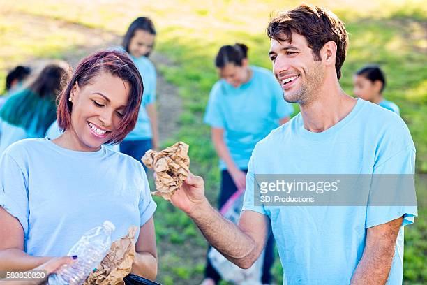 Volunteers help with community clean up