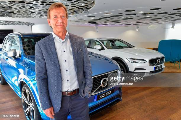Volvo Cars CEO Hakan Samuelsson poses for photographer after an interview at Volvo Cars Showroom in Stockholm Sweden on July 05 2017 Samuelsson said...