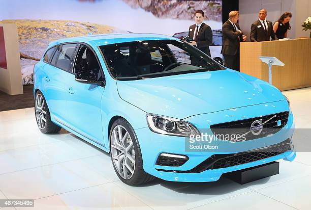 Volvo introcuces the V60 Polestar at the Chicago Auto Show on February 6 2014 in Chicago Illinois The show which is oldest and largest in the nation...