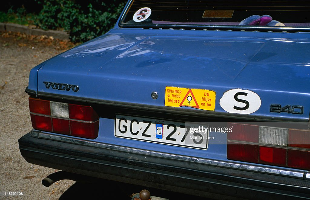 Volvo is typical Swedish family car and 'S' is for Sverige (Sweden in Swedish).