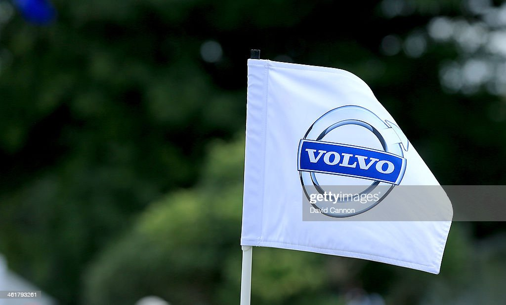 Volvo pin flag on a green during the third round of the 2014 Volvo Golf Champions at Durban Country Club on January 11 2014 in Durban South Africa