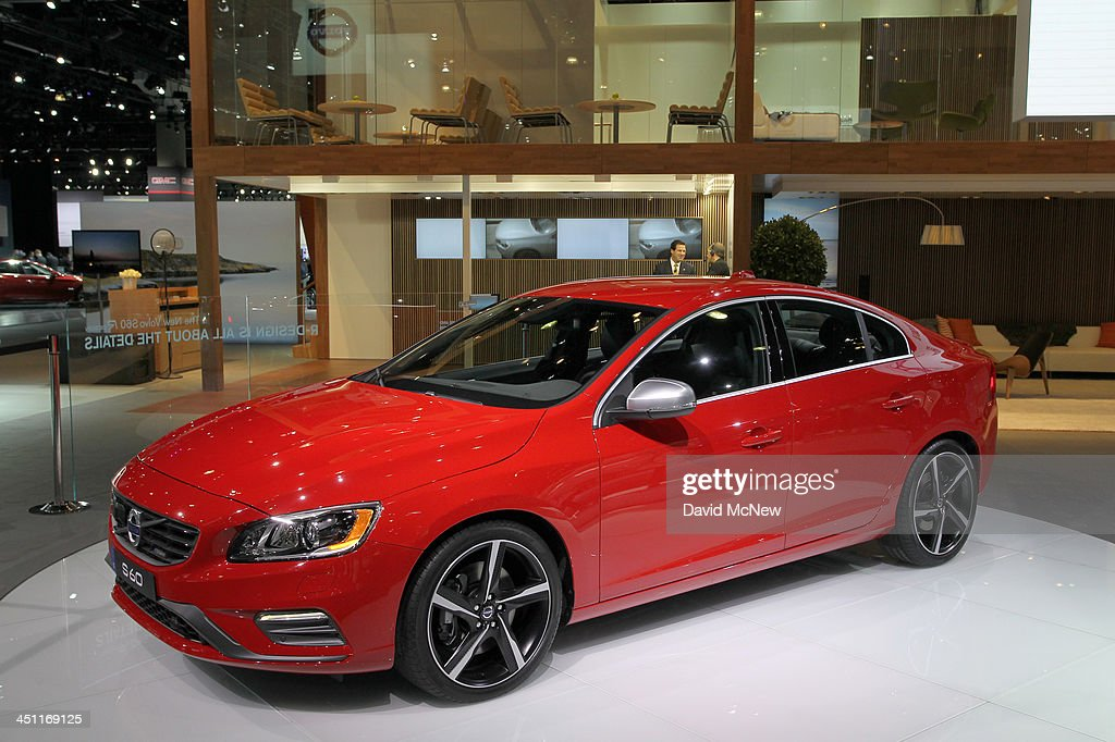 A Volvo V60 T6 R-Design Sports Wagon is displayed during media preview days at the 2013 Los Angeles Auto Show on November 20, 2013 in Los Angeles, California. The LA Auto Show was founded in 1907 and is one of the largest with more than 20 world debuts expected. The show will be open to the public November 22 through December 1.